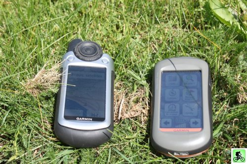 GPS colorado 300 et Oregon 450T face au soleil